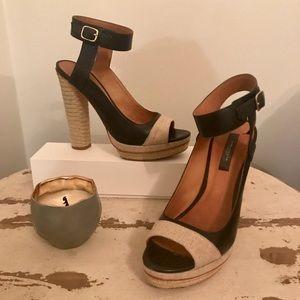Ann Taylor platform heels with ankle strap